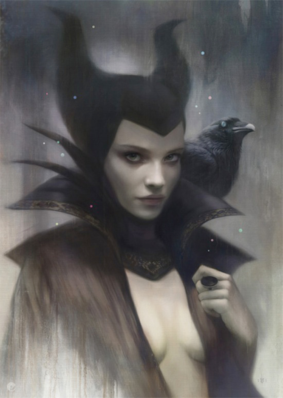Tom-Bagshaw-priestess-witch-witch-with-raven